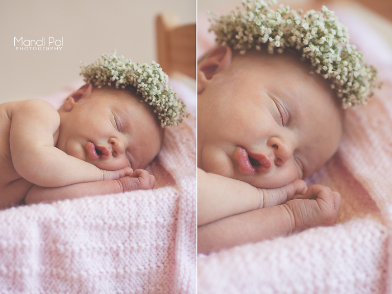 baby girl newborn photographer in sacramento