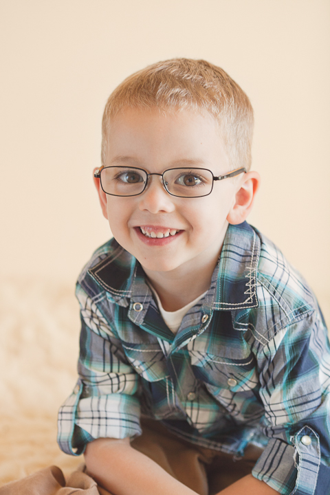 picture of cute little boy in glasses
