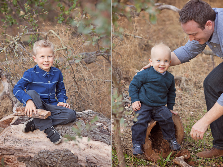 two cute brothers in rustic fall photo