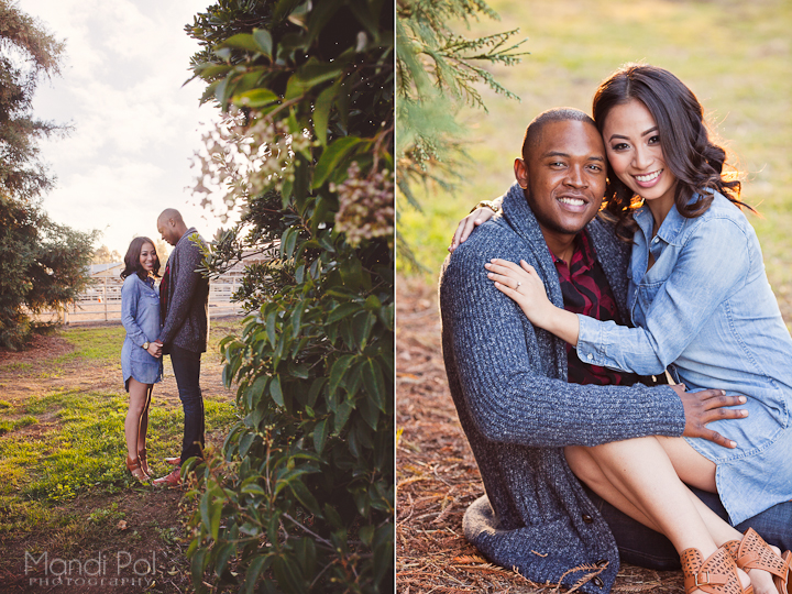 engagement session at uc davis arboretum