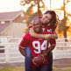 49ers themed engagement photo