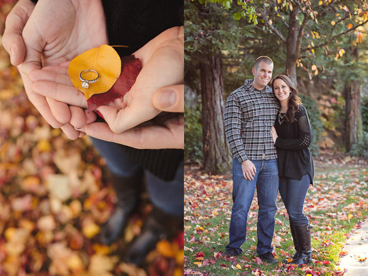 rustic engagement session in roseville
