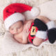 newborn baby dressed like santa