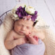 picture of newborn baby girl in flower crown