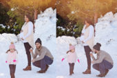 family portraits at snow